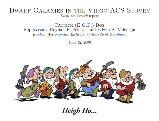 "BSc research report: ""Dwarf Galaxies in the Virgo-ACS Survey"""